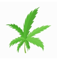 Marijuana leaf icon cartoon style vector image