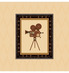 Flat about vintage cinema design vector