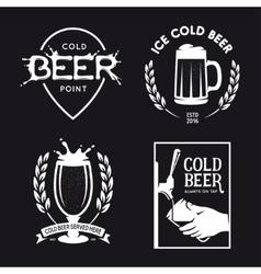 Beer related typography set vintage vector