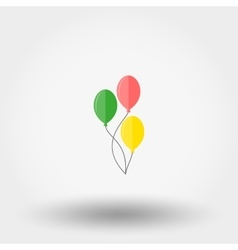 Balloon icon flat vector
