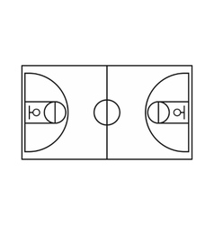 Basketball field icon outline style vector image vector image