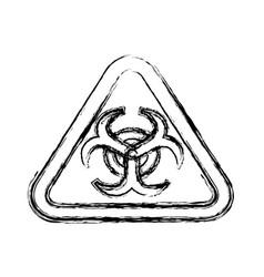 biohazard advert sign vector image vector image