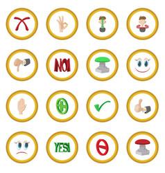 check mark yes and no icon circle vector image vector image