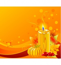 Christmas candle design vector image