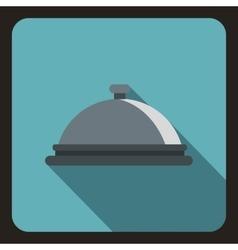 Cloche icon flat style vector
