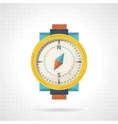 Colored compass flat icon vector