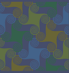 colorful seamless pattern with spirals vector image vector image