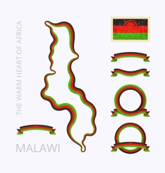 Colors of malawi vector