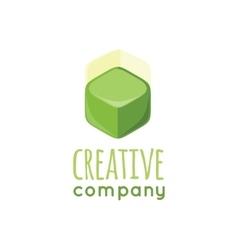Creative company logo design flat vector