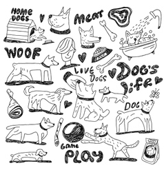 Dogs - doodles vector