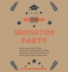 Graduation announcement vector