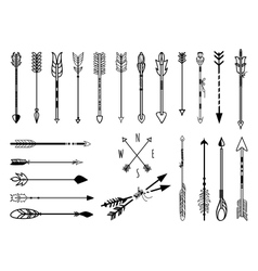 Hand drawn arrows set vector