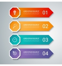 Infographic arrow design template with 4 options vector image vector image