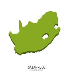 Isometric map of Gazankulu detailed vector image vector image