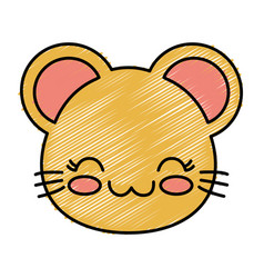 Kawaii mouse icon vector