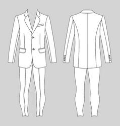 Mans suit jacket skinny jeans vector