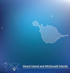 Map of heard island and mcdonald islands vector