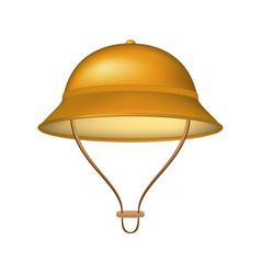 pith helmet in brown design vector image vector image