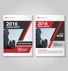 Red black annual report Leaflet Brochure flyer vector image