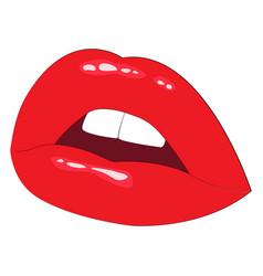 sexy lips vector image vector image