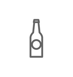 simple beer bottle line icon symbol and sign vector image