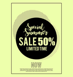Special summer sale limited time banner for vector