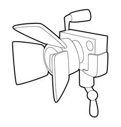 Spotlight icon outline style vector