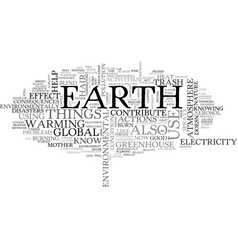 what you can do for mother nature text word cloud vector image