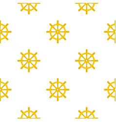 wooden ship wheel pattern flat vector image vector image