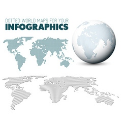 World map and globe for your infographics vector image