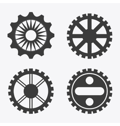 Gear cog machine part set design vector