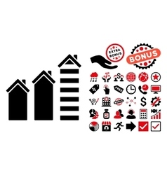 Realty trend flat icon with bonus vector