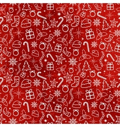 Red Christmas Seamless Pattern vector image
