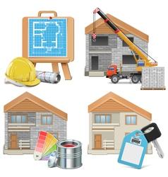 Homebuilding concept vector