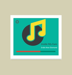 Music player 38 vector image