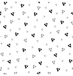 Hand drawn triangle geometric seamless pattern vector
