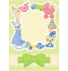 Children postcard vector
