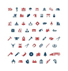Set color icons of industry vector