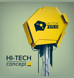 Abstract hi-tech technologic template vector