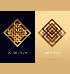 abstract square shape vector image