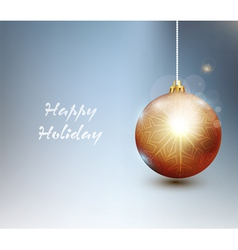 background with Christmas tree ball vector image
