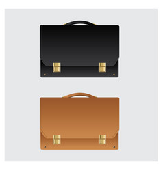 business leather briefcase on white background vector image vector image