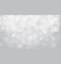 christmas background of snowflakes with bokeh vector image