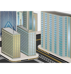 Cityscape cartoon vector image