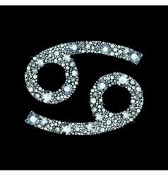 Diamond cancer symbol vector