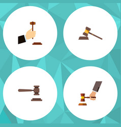 Flat icon court set of crime court law and other vector