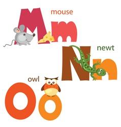 Funny alphabet 5 vector image