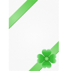 gray background with green stripes and a flower vector image
