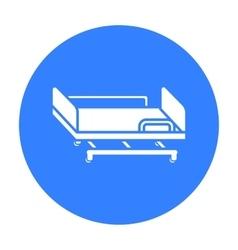 Hospital gurney icon black single medicine icon vector