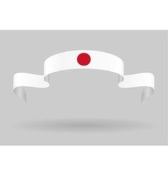 Japanese flag background vector